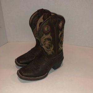 Justin Boots 2523JR size 9D western cowboy boots